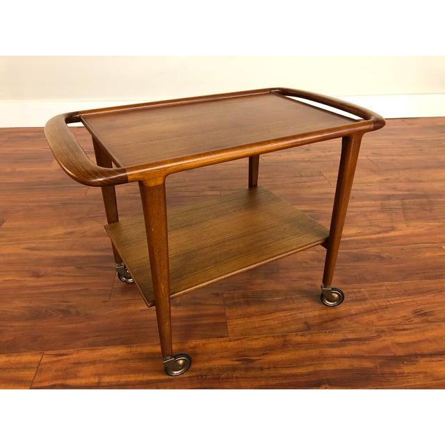 Mid 20th Century Vintage Jl Moller Teak Bar Cart or Serving Trolley For Sale - Image 5 of 13