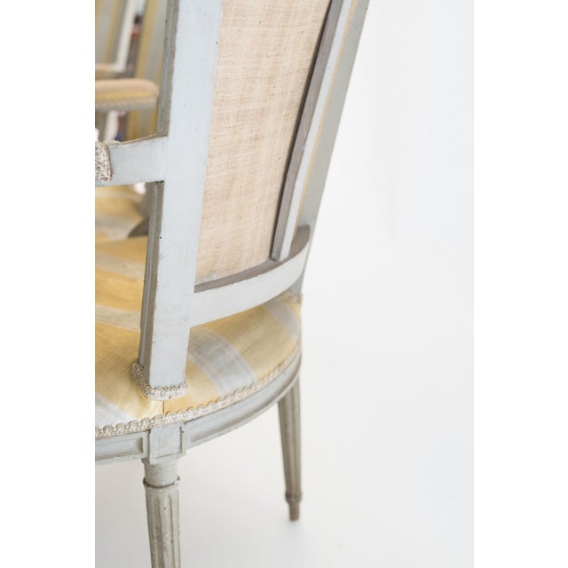 Six French Armchairs For Sale In Savannah - Image 6 of 6