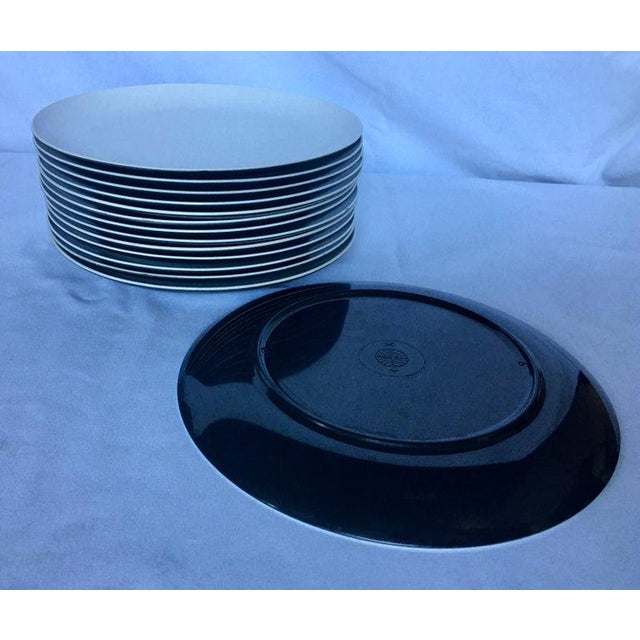 Black Mid-Century Modern Pan Am Airlines Melamine Plates Dinnerware Service, 1960s - Set of 74 For Sale - Image 8 of 13