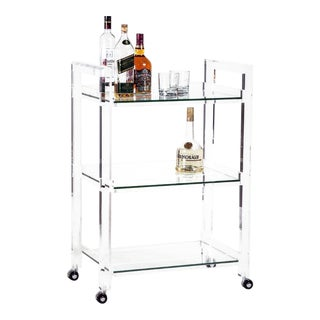 Interlude Home Ava Bar Cart For Sale