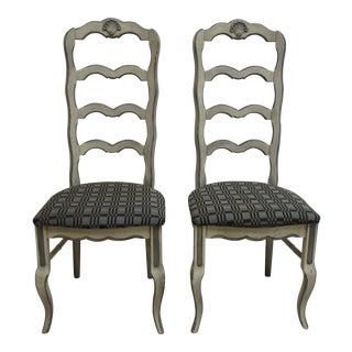 Vintage French Country Dining Room Side Chairs- A Pair For Sale