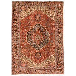 Antique Persian Heriz Carpet For Sale