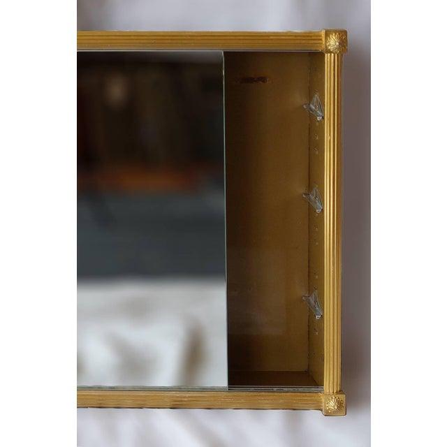 Traditional Vintage Mid Century Dore Gilt Bronze Medicine Cabinet For Sale - Image 3 of 6