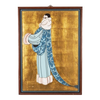 Art Deco Painting of Elegant Woman For Sale