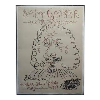 Pablo Picasso -Sala Gaspar 1968 Vintage Lithograph For Sale