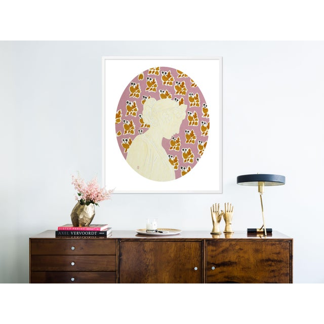 Contemporary September by Theresa Drapkin in White Frame, Medium Art Print For Sale - Image 3 of 4