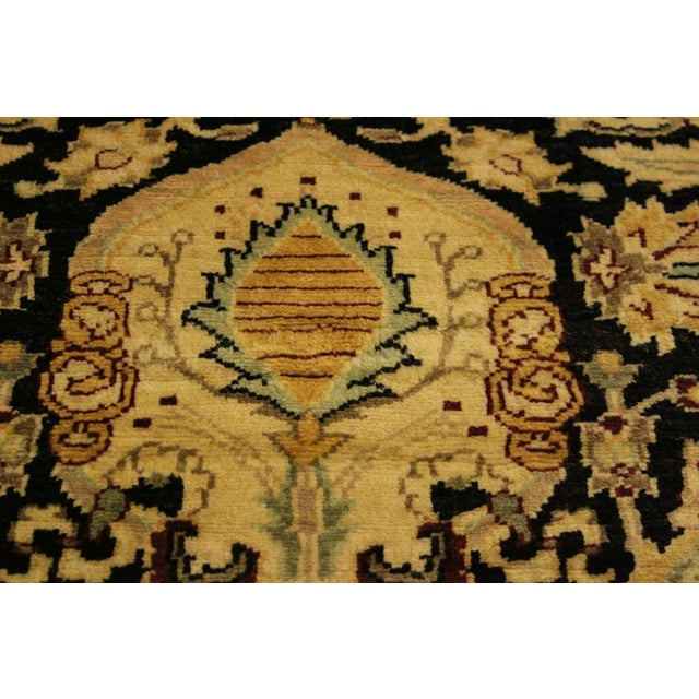 Istanbul Dorla Black/Tan Turkish Hand-Knotted Rug -4'2 X 6'7 For Sale - Image 4 of 8
