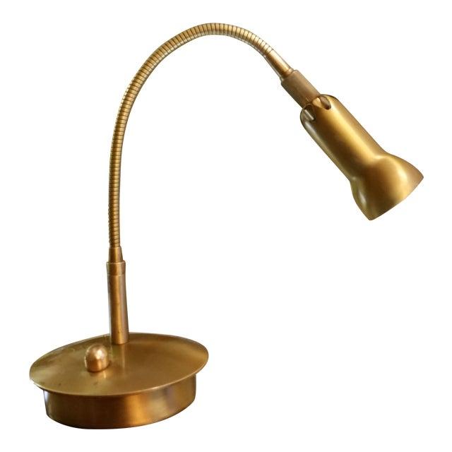 Levenger Brass Gooseneck Reading Lamp - Image 1 of 7