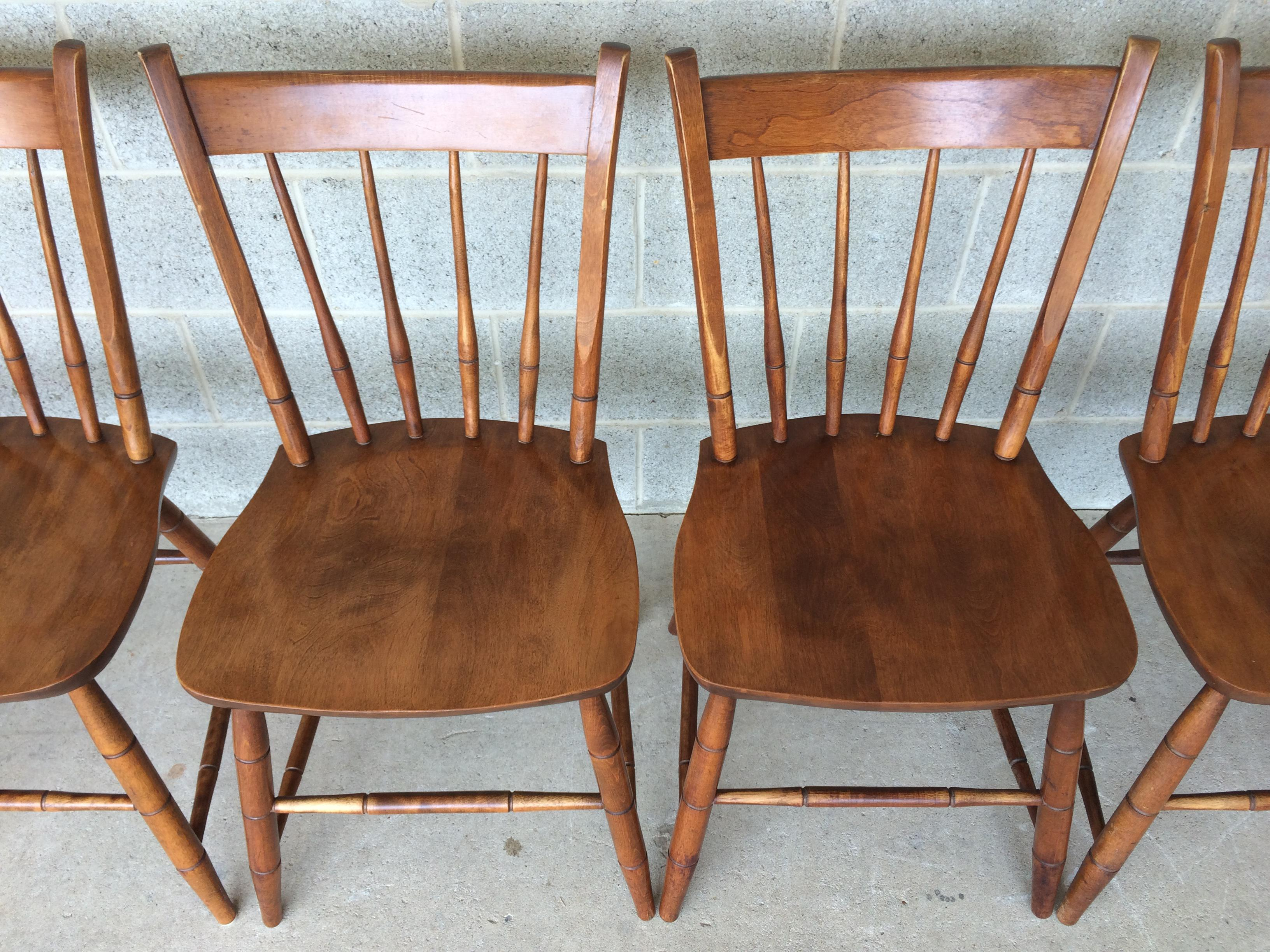 Hitchcock Style Arrow Back Farmhouse Maple Side Chairs   Chair   Image 4 Of  11