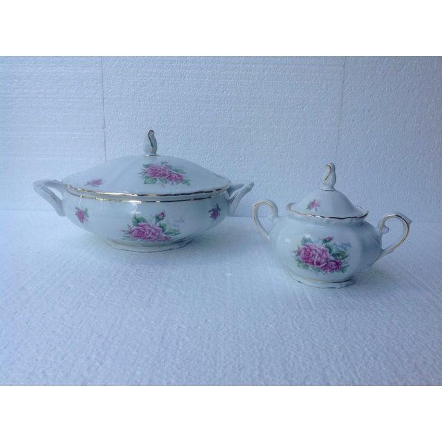 Bavarian Pink Rose China Set - Set of 84 For Sale - Image 7 of 8