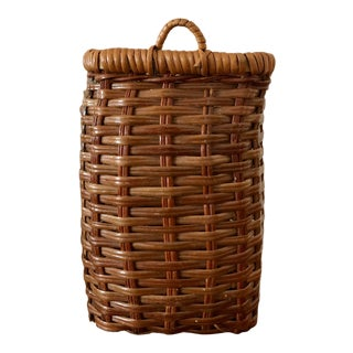 Final Price! Vintage Mid Century Wall Basket For Sale