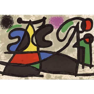 """1970 Original Lithograph by Joan Miro From """"Derriere Le Miroir No.186 Miro: Sculptures"""" For Sale"""