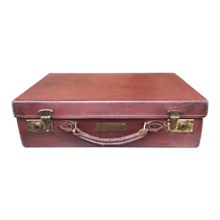 Grand Tour Antique French Travel Case With Paris Personalization For Sale