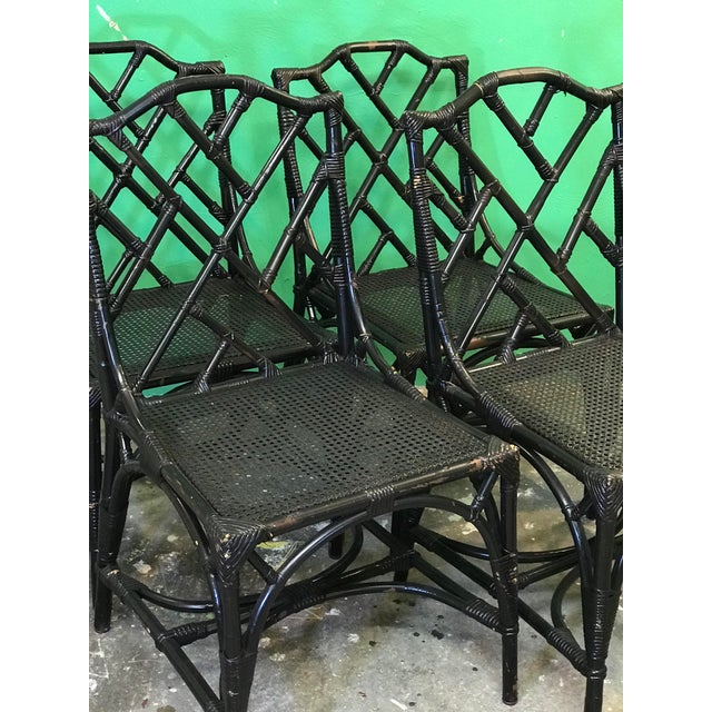 Vintage Rattan Chippendale chairs made in Italy looking for their forever home and a new look. They have multiple scrapes...
