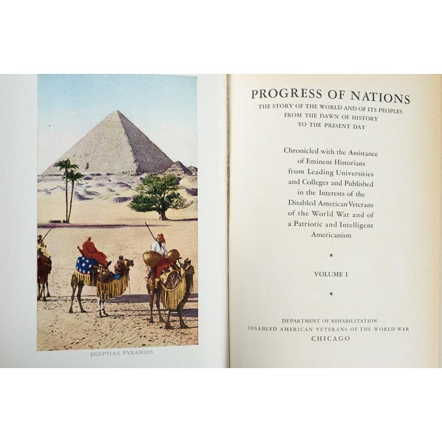 """""""Progress of Nation"""" Books - Set of 10 For Sale In Los Angeles - Image 6 of 10"""