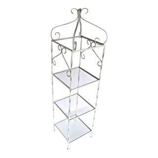 Victorian Pagoda Style Wrought Iron Plant Stand For Sale