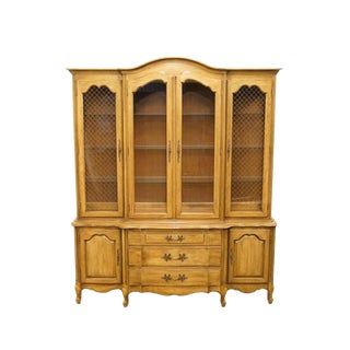 "Thomasville Furniture Tableau Collection French Provincial Country 70"" China Cabinet For Sale"