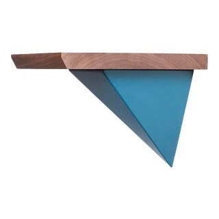 Tortuga Mounted Teal Pyramid Shelf - 2 Pieces For Sale
