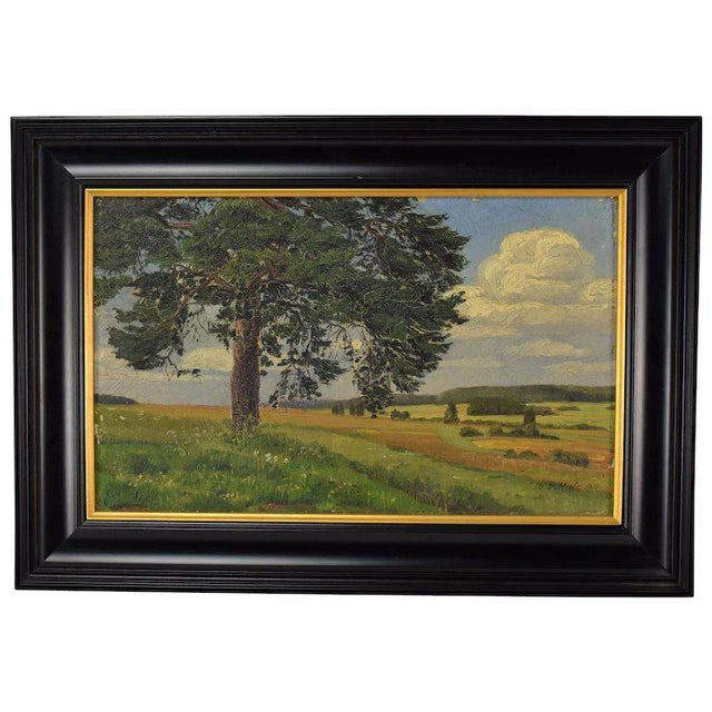 1910s 1910 Vintage Landscape Oil Painting by W. Vittale For Sale - Image 5 of 5