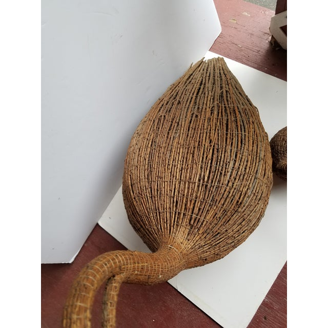 Americana 1970s Americana Highly Decorative Wicker Goose Decoys - Set of 2 For Sale - Image 3 of 6