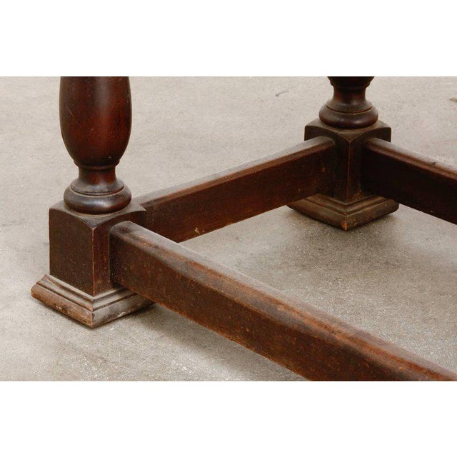 19th Century English Walnut Refectory or Console Table For Sale - Image 9 of 13