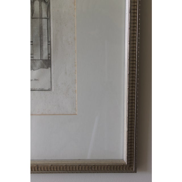 Early 19th Century Antique Finestra Sopra La Porta Architectual Print For Sale In New Orleans - Image 6 of 10