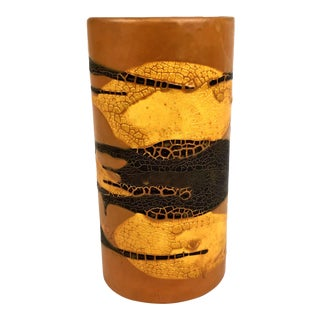 Haeger Cylindrical Earth Wrap Collection Pottery Vase For Sale