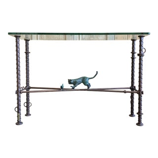 Ilana Goor Iron and Bronze Console For Sale