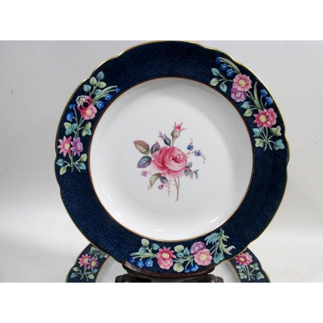Cottage Antique Spode Copeland Billingsley Pink Rose Luncheon Plates - Set of 8 For Sale - Image 3 of 8