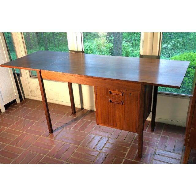 Danish Modern 1960s Vintage Danish Modern Arne Vodder Desk For Sale - Image 3 of 9
