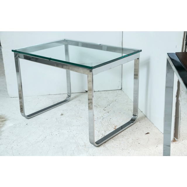 Chrome And Glass Accent Table - Image 4 of 4
