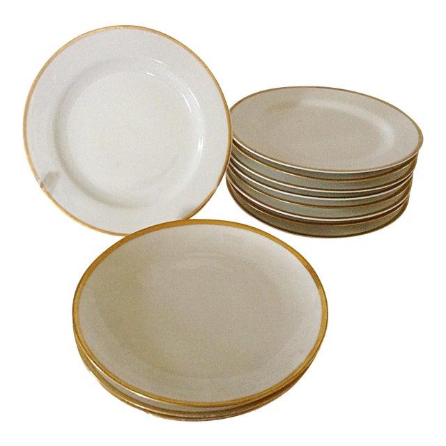 Limoges Gold Rim Bread & Butter Plates - Set of 12 For Sale