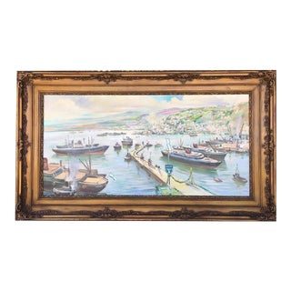 Vintage Victorian Picture Frame Painting For Sale