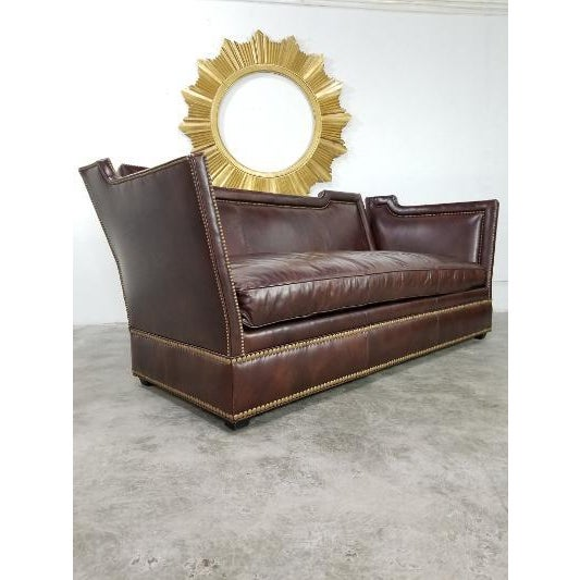 Leather Sofa by Ferguson Copeland For Sale In Los Angeles - Image 6 of 13