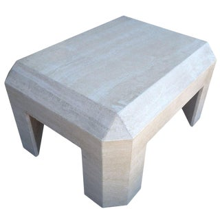 Beautiful Travertine Coffee Table For Sale