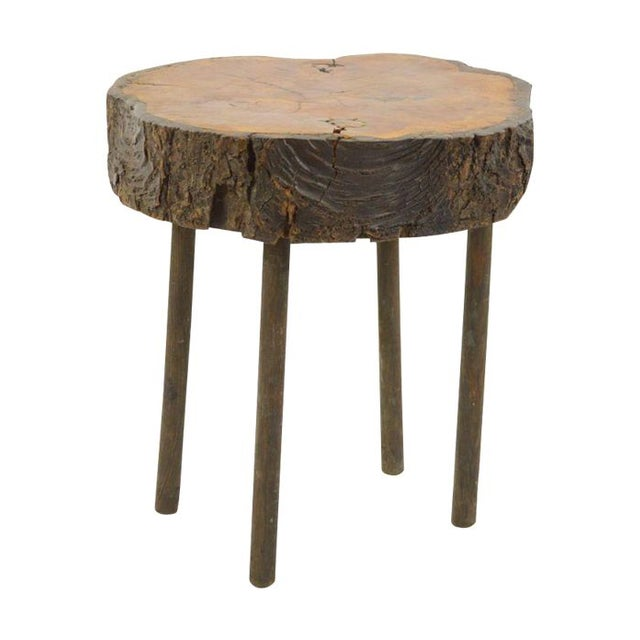 Rustic Side Table - Adirondack Style - Image 1 of 3