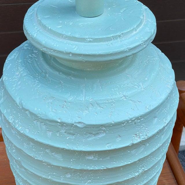 1980s Alsy Light Blue Plaster Table Lamp For Sale - Image 9 of 13