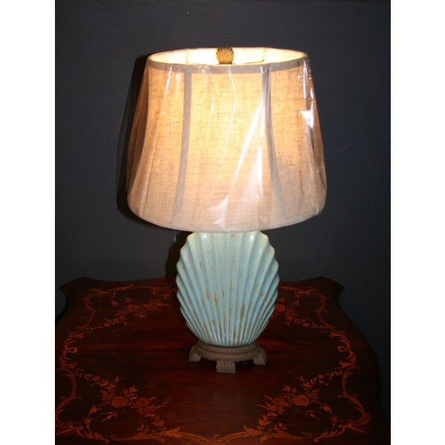 Scallop Seashell Lamp - Image 2 of 7