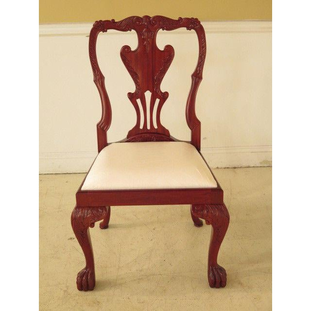 Item: F23875: Pair of Georgian Mahogany Dining or Occasional Side Chairs Age: Approx. 10 Years Old Details: Solid Mahogany...