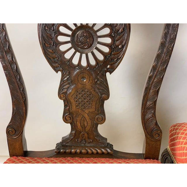 Brown Mid-19th Century Chippendale Style Carved Mahogany Side Chairs For Sale - Image 8 of 13