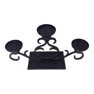 Black Iron Candelabra Centerpiece