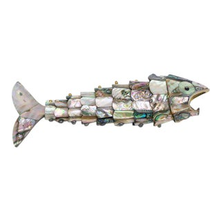 1950s Abalone Shell Fish Form Bottle Opener For Sale