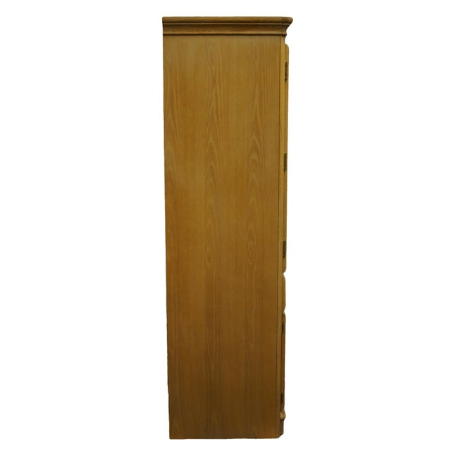 """Stanley Furniture Pickled Oak 42"""" Door Chest/Armoire For Sale - Image 12 of 13"""