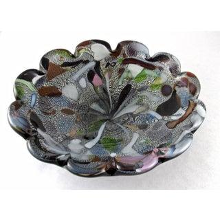 1950s Vintage Avem Murano Art Glass Bowl, Mid Century Murano Blown Glass Ashtray Preview