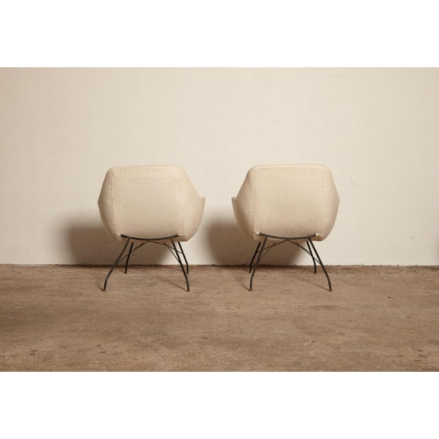 1950s Vintage Forma Brazil Carlo Hauner and Martin Eisler Shell 'Concha' Lounge Chairs - a Pair For Sale - Image 9 of 13