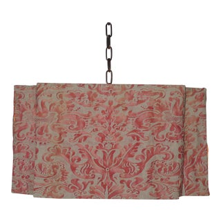 Modern Draped Chandelier in Vintage Fortuny Fabric by Paul Marra For Sale
