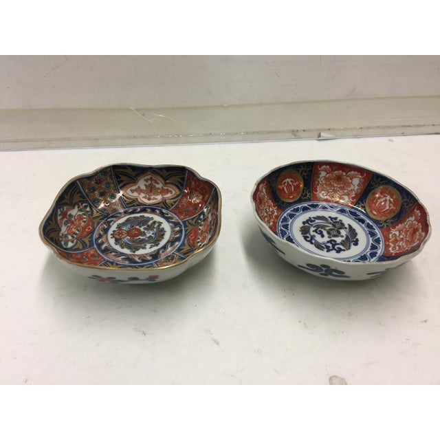 Two colorful Japanese Imari bowls, sigennin the bottom , 20th century. In excellent condition, no chips or cracks or wear....