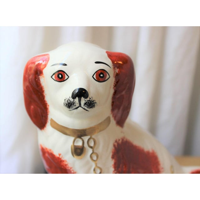 1950s Figurative Staffordshire Ceramic Spaniels Dogs - a Pair For Sale - Image 9 of 13