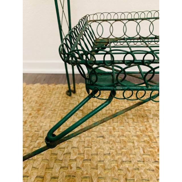 Victorian Iron Scroll Garden Patio Table With Tray Plant Stand Bar Cart For Sale In Palm Springs - Image 6 of 13