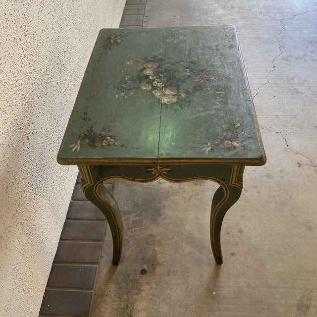 Wood 19th Century Hand Painted Side Table For Sale - Image 7 of 9